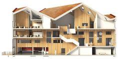 mecanoo architects: amsterdam university college, section