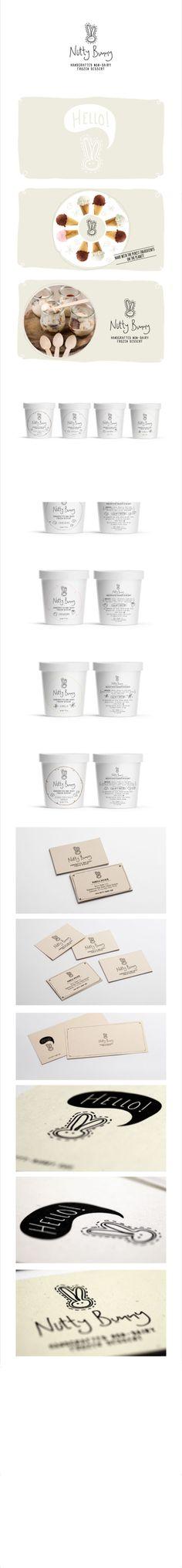 nutty bunny - ice cream   #logo #stationary #corporate #design #corporatedesign #identity #branding #behance