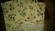 "1 WILLIAMSBURG VALANCE YELLOW / BLUE FLORAL / LAYERED 76"" WIDE BY 17"" LONG #WILLIAMSBURG #Cottage"