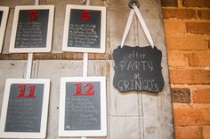 Chalkboard Wedding Table Assignment Escort Cards