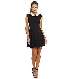 Betsey Johnson PearlCollar FitandFlare Dress #Dillards