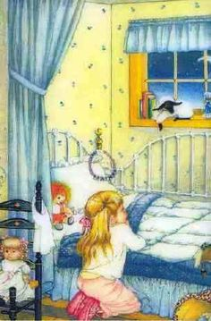 ♥ Eloise Wilkin - I love the blue and yellow bedroom.
