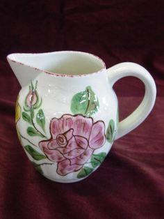 Blue Ridge Pottery Hand Painted Milk Pitcher  Auction ID: 108658  redballauction.com