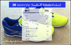 20 minute treadmill tabata workout #hiit #tabata