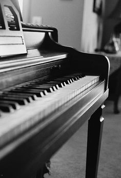 a piano waiting to be played