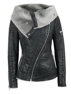 $1239 Ash Arnelle Black Leather Biker Jacket at Coggles.com
