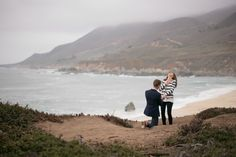 Her reaction to this amazing adventure proposal at Big Sur is just the cutest!