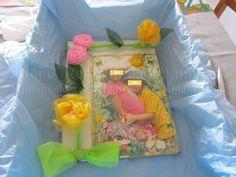 Passo a passo de folhas de flores e montagem de um quadro decorado. Flores de Tecido (Organza). Artesanato e Reciclagem. Ideias para o Dia da Mãe, dia das Madrinhas e... não só!