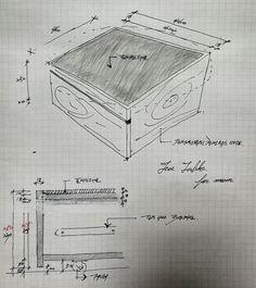 Small tea table drawing