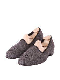 Madison Sartorial Footwear Emblem Grey Herringbone- £285.00
