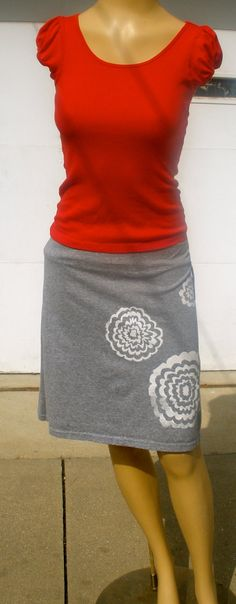 spring skirt from Recreative Crafts - made from recycled t-shirt