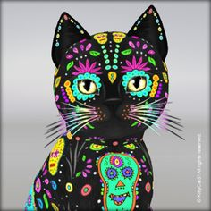 day of the dead cat - Google Search