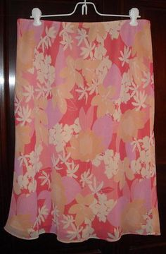 Apostrophe Pink and Peach Skirt Size Large Ships Free in the USA Price:US $12.99
