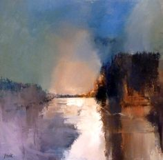 """Saatchi Art is pleased to offer the painting, """"Gently as it Flows - River Spey (SOLD),"""" by Graham Pook. Original Painting: Oil on N/A. Abstract Landscape Painting, Landscape Art, Landscape Paintings, Abstract Art, Oil Paintings, Claude Monet, Wow Art, Abstract Images, Vincent Van Gogh"""
