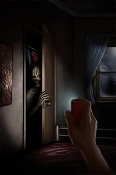 nerd-professor: Closet Monster by Gabriel Wyse Creepy Images, Creepy Pictures, Monster Concept Art, Monster Art, Creepy Drawings, Horror Pictures, Horror Artwork, Arte Obscura, Macabre Art