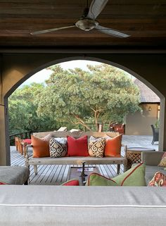 Velvets and prints add excitement to the the exciting self catering luxury safari lodge in the Kruger National Park