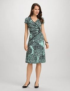 Misses | Dresses | A-line Dresses | Medallion Print Dress