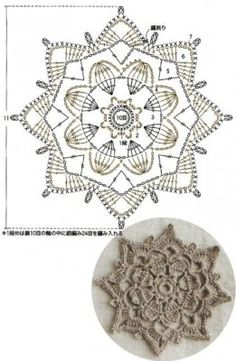 Como hacer flores rosas con hojas a Crochet paso a paso en punto tunecino tejido tallermanualperu - Crochet Hairband Crochet Squares, Crochet Snowflake Pattern, Crochet Motif Patterns, Crochet Circles, Crochet Snowflakes, Crochet Diagram, Crochet Chart, Crochet Doilies, Crochet Flowers