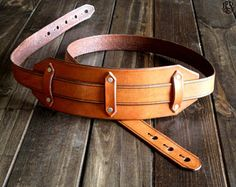 Leather Guitar Strap  Custom Steampunk Strap  Personalized