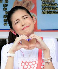 She's the most beautiful and cutest yaya in the world ♥ Gma Network, Maine Mendoza, Alden Richards, Theme Song, Attraction, Singing, Give It To Me, Songs, My Love
