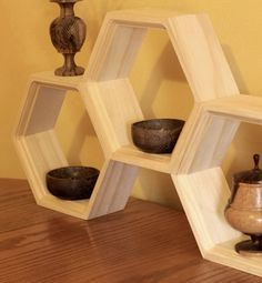 had this idea in my sketch book. continue to develpop - - jon Unfinished Honeycomb Shelves