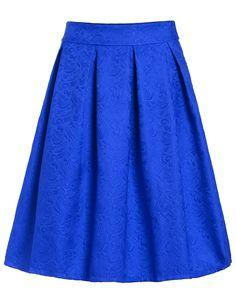 Jacquard Blue Midi Skirt 16.14