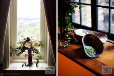 Lori Schulweis and David Buder- plum bouquet--matthew robbins design