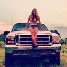 nice Ford F-150  truck.  The girl is not bad either