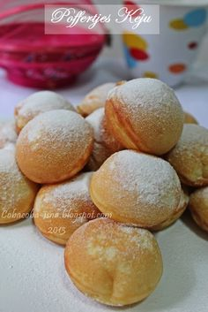 Coba-Coba Yuk.....: Poffertjes Keju Indonesian Desserts, Asian Desserts, Indonesian Food, Mini Desserts, Resep Pastry, Poffertjes Recipe, Crepes And Waffles, Pancakes, Cookie Recipes