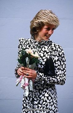 The late Princess Diana in black and white