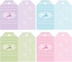 Christmas gift tag free printables