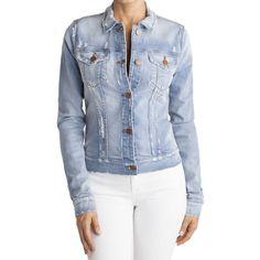 J Brand 403 Destructed Jacket ($262) ❤ liked on Polyvore