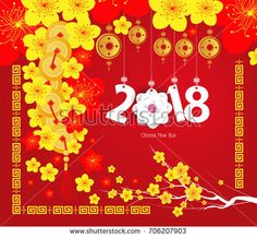 Illustration about Happy Chinese new year 2017 card, Year of the Rooster. Illustration of element, culture, abstract - 77166952 Happy Chinese New Year 2017, Chinese New Year Card, Happy New Year 2018, Chinese Calendar, Happy 2017, New Years Eve 2018, 2018 Year, Chinese Theme, New Year Art