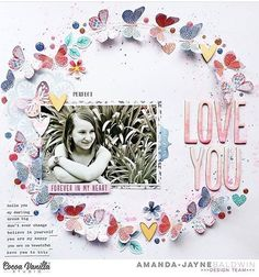 """Wild at Heart"" has arrived in store. Just look at this gorgeous page by Amanda Jane Baldwin @cocoa_vanilla_studio"
