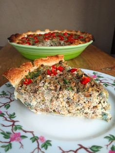 Vegan Sausage, Broccoli & Cheese Quiche with Tofu & Fried Sage