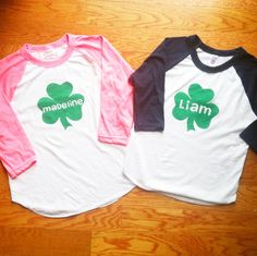 Could do freezer paper stenciled tees w kids Monogram T Shirts, Vinyl Shirts, Freezer Paper Shirt, Erin Go Bragh, Irish Baby, Spirit Shirts, Silhouette Cameo Projects, Holidays With Kids, St Pattys
