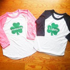 Custom Kids St. Patrick's Day Tee.