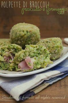 polpette di broccoli prosciutto e formaggio al forno ricetta polpette light