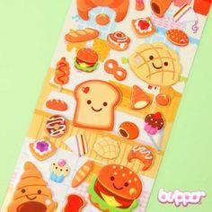 Smiling Food Balloon Sticker - Stationery | Blippo.com - Japan & Kawaii Shop Kawaii Stickers, Love Stickers, Chibi, Sticker Bomb, Paper Crafts, Diy Crafts, Kawaii Stationery, Fall Wallpaper, Kawaii Shop