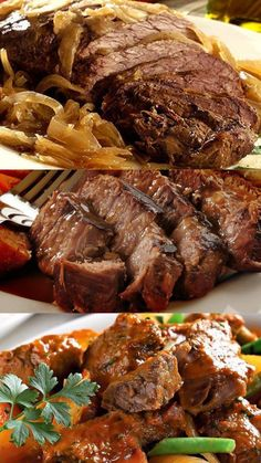 Beef Steak, Pork, Pasta, Soul Food, Easy Meals, Food And Drink, Menu, Cooking Recipes, Academia