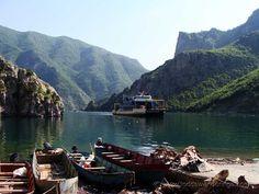 The Komani-Fierze Ferry on Komani Lake, Albania <3