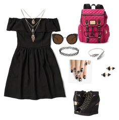School day  by victoriatitis on Polyvore featuring polyvore, fashion, style, Abercrombie & Fitch, ALDO, Juicy Couture, Vita Fede, Quay and alfa.K