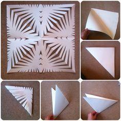 21 papercraft ideas The snow star