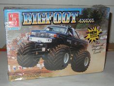 1989 AMT ERTL 4x4x4 Bigfoot Plastic Model Kit by RetroPickins, $49.95