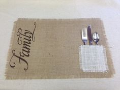Burlap Placemats  set of 8 by CreativePlaces on Etsy, $40.00