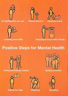 Mental Health- Start talking about it!  What's the big deal?  Be proud and educate others.