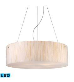 ELK Lighting Modern Organics 5 Light Pendant in Polished Chrome 19033/5-LED #lightingnewyork #lny #lighting