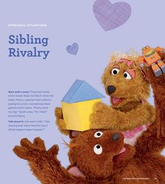 Sibling rivalry can be tough to handle - check out our Little Children, Big Challenges FREE family guide for some tips on overcoming this with your young children. Little Children, Children And Family, Young Children, Sibling Rivalry, Big Challenge, Emergency Preparedness, Young People, Siblings, Parenting Hacks
