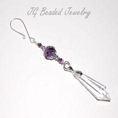 Purple Crystal Ornament  #ornament #crystals