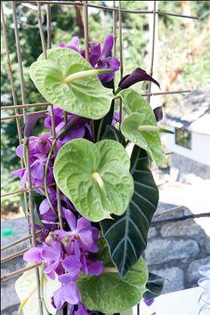 ZWADA home -  contemporary flower arrangement - wedding : summer garden wedding - west vancouver zwadadesign.com